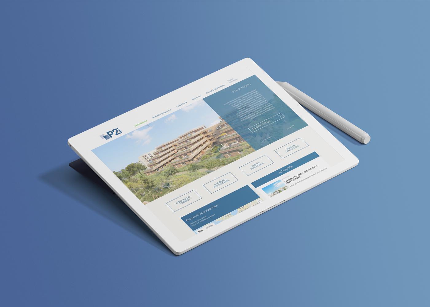 p2i iPad website