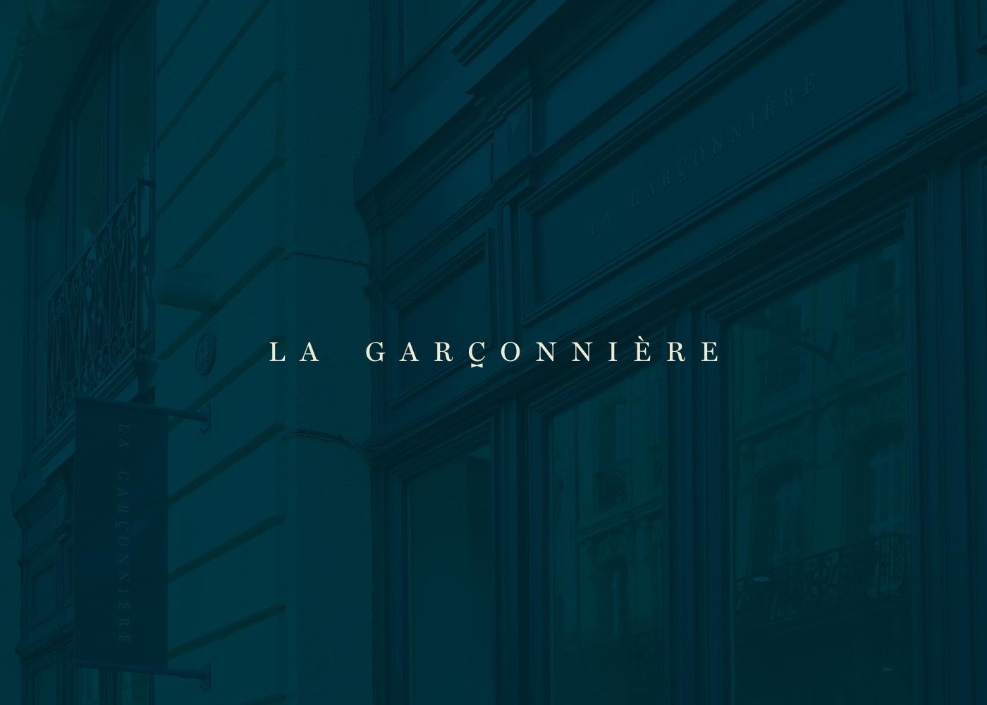 logo La Garçonnière branding