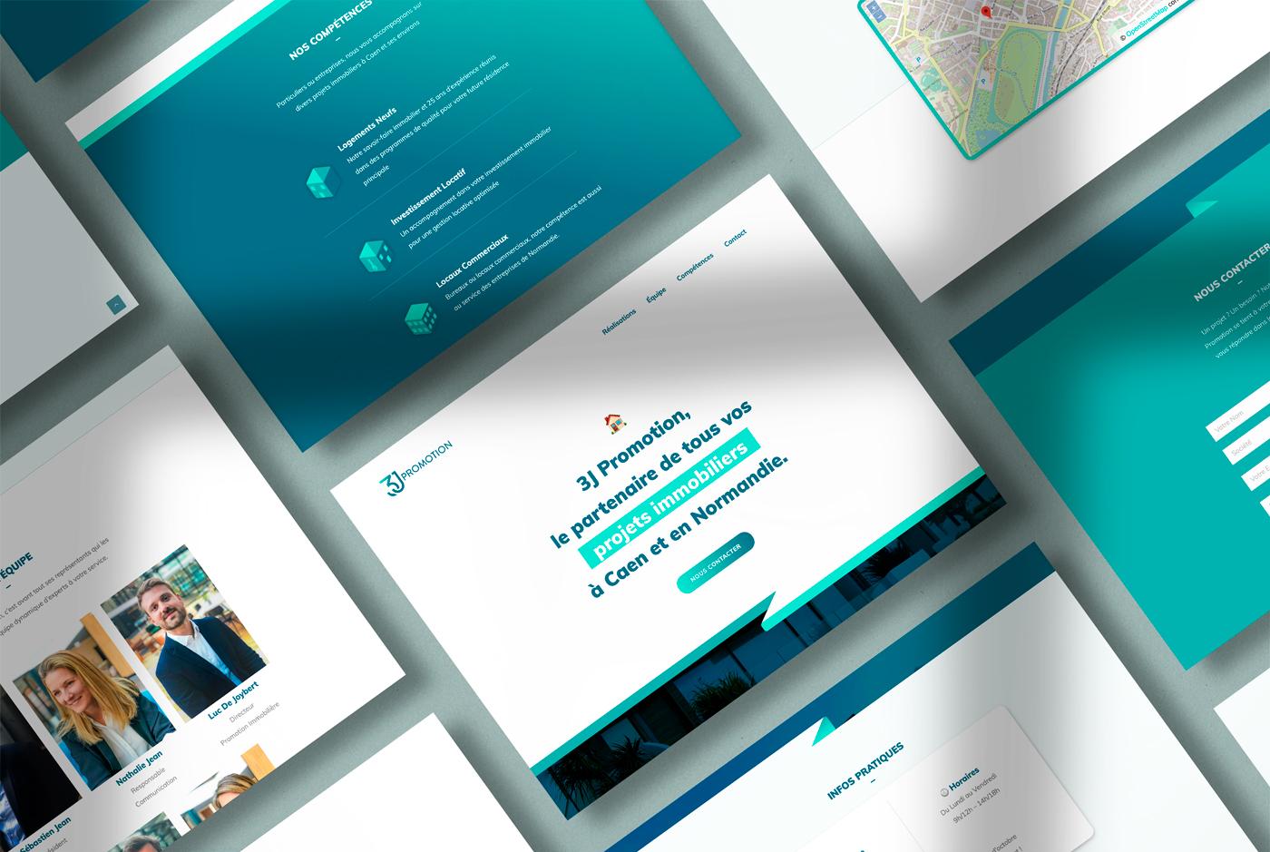 3J immobilier website desktop - mathieu Dupuis Freelance