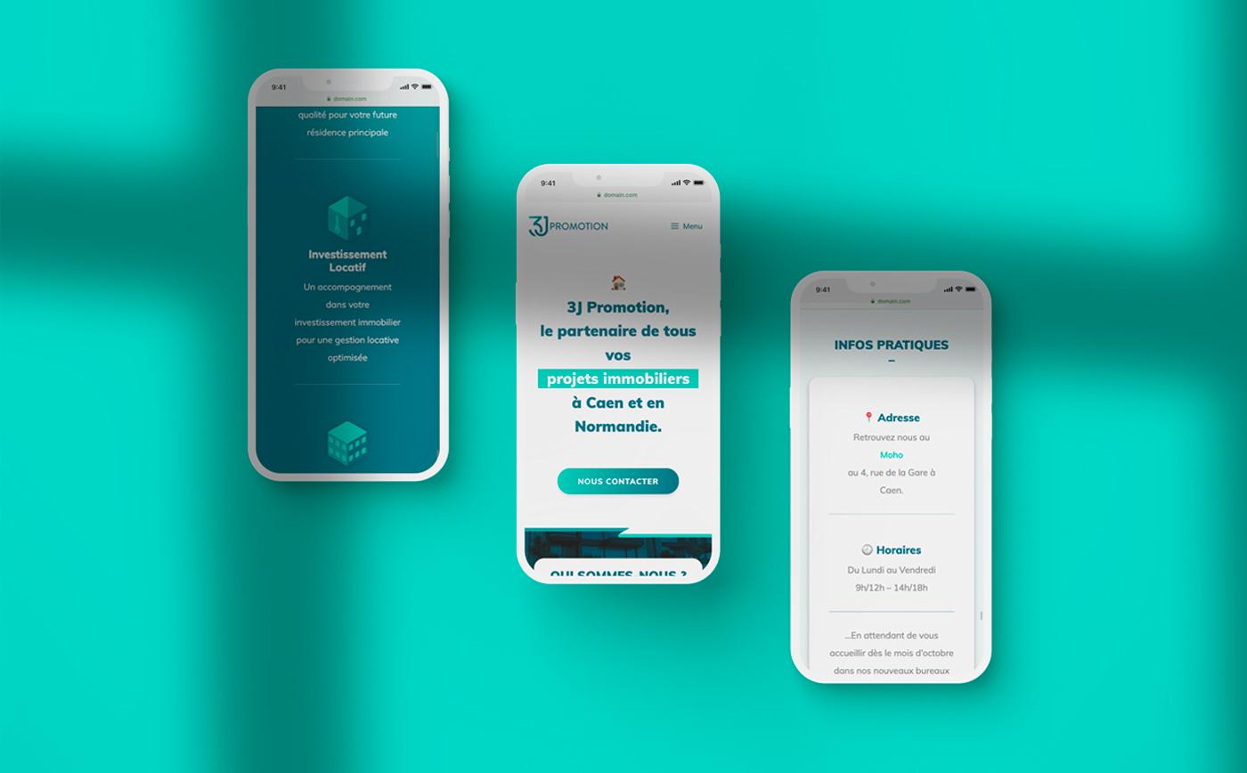 3J immobilier website mobile - mathieu Dupuis Freelance