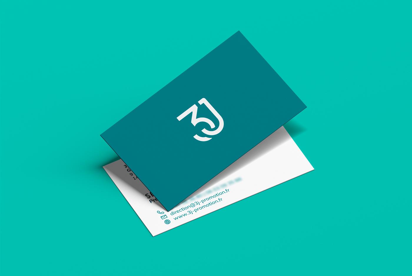 3J immobilier business card - mathieu Dupuis Freelance