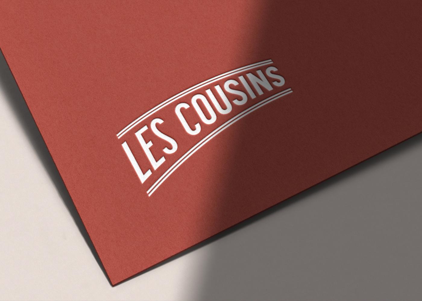 Les Cousins logo simple blanc - Mathieu Dupuis freelance