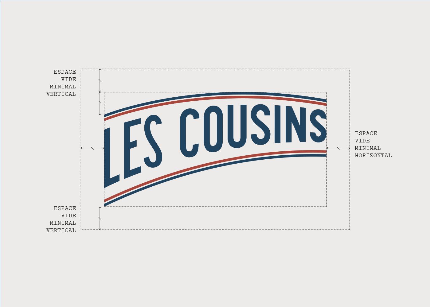 Les Cousins logo construction - Mathieu Dupuis freelance