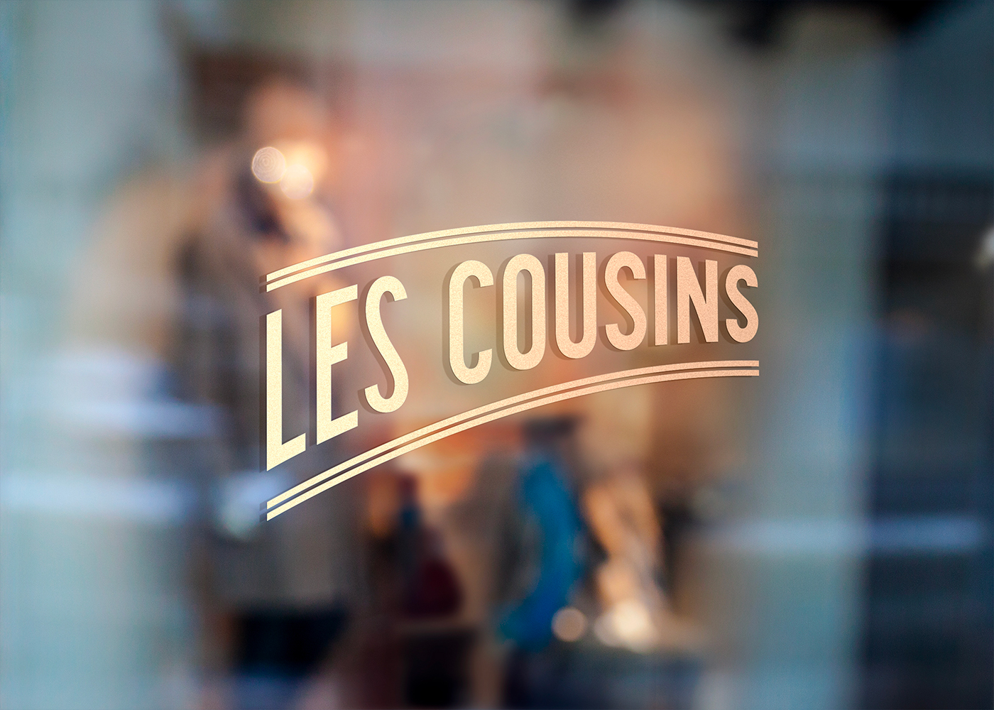 Les Cousins logo vitrine - Mathieu Dupuis freelance
