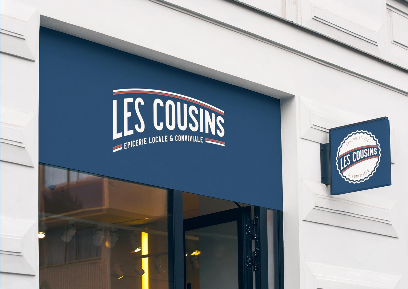 Les Cousins logo signalétique - Mathieu Dupuis freelance