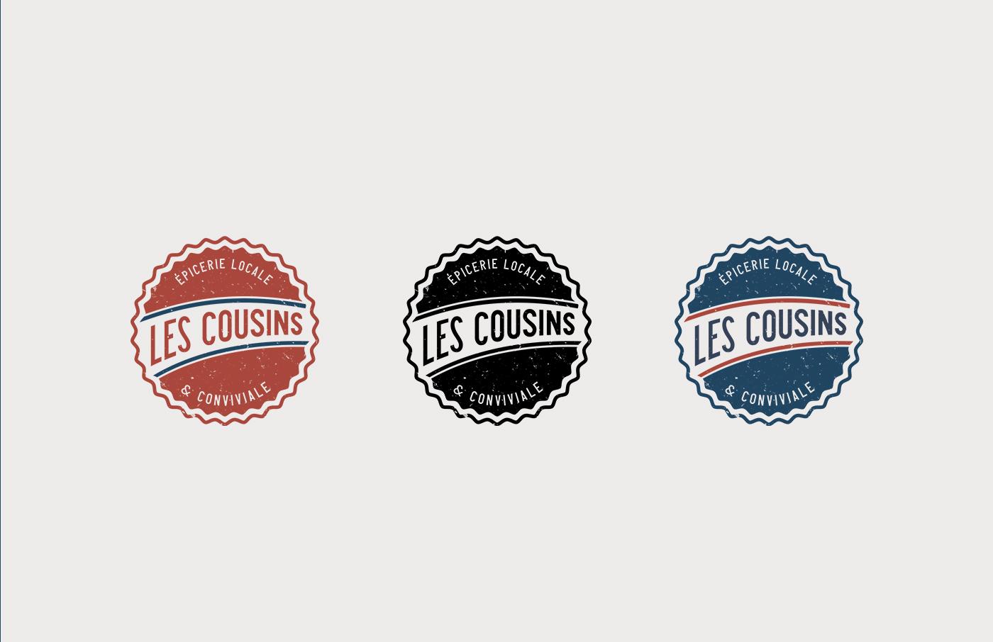Les Cousins logo secondaire déclinaisons - Mathieu Dupuis freelance