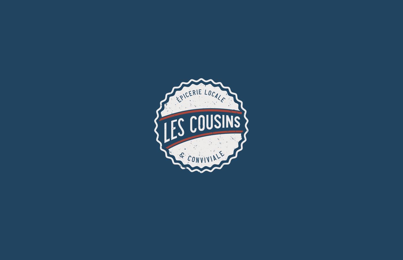 Les Cousins logo secondaire - Mathieu Dupuis freelance