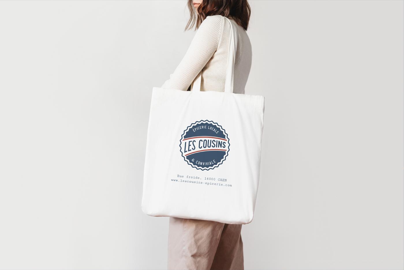 Les Cousins logo tote bag - Mathieu Dupuis freelance