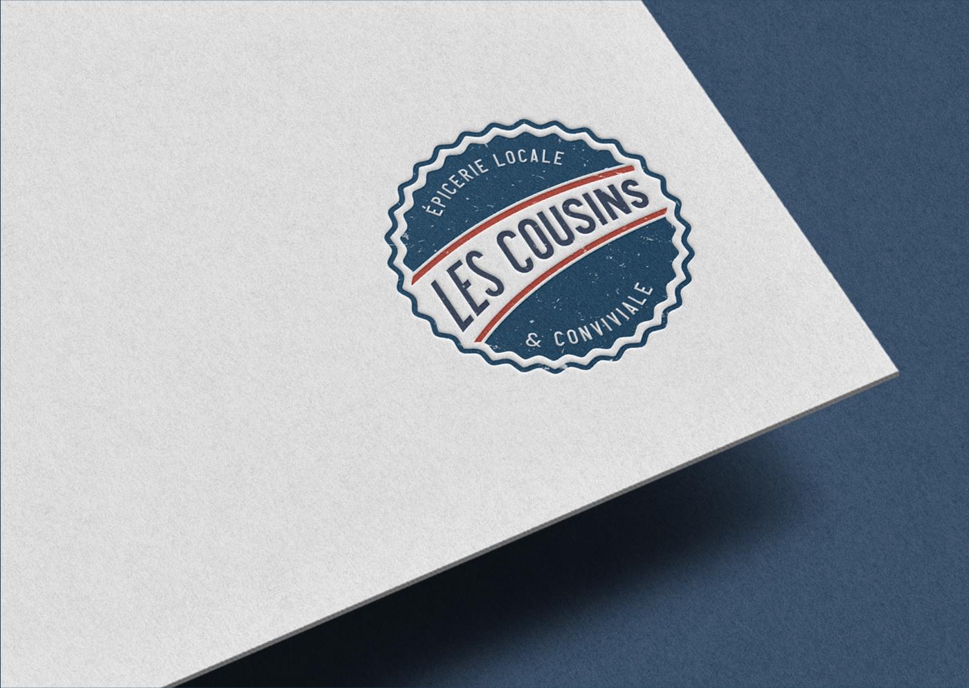 Les Cousins logo secondaire embossé - Mathieu Dupuis freelance