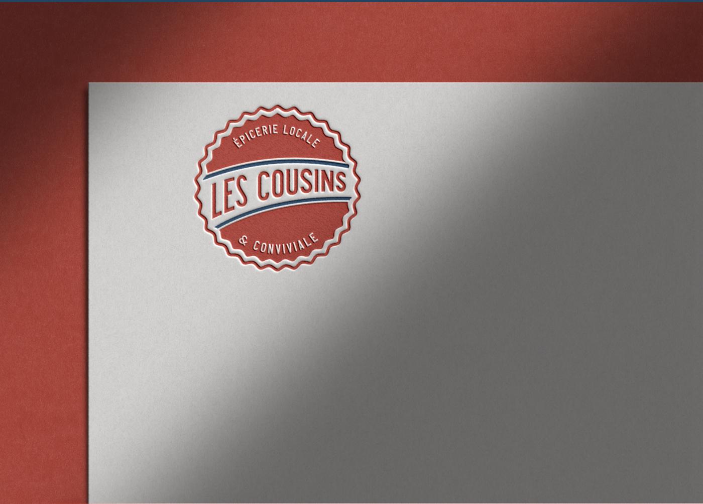 Les Cousins logo secondaire rouge - Mathieu Dupuis freelance